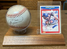 Andre Dawson Chicago Cubs  Autographed Signed Baseball & Card 1990