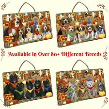 Fall Autumn Festival Gathering Hanging Slate, Dogs, Cats, Pet Photo slate Decor