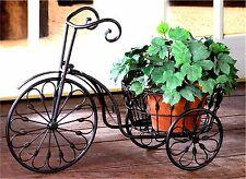 Nostalgic Whimsical ** WROUGHT IRON BICYCLE PLANT STAND ** NIB