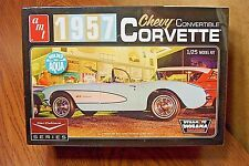 AMT 1957 CHEVY CORVETTE CONVERTIBLE 1/25 SCALE MODEL KIT (molded in aqua)