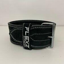 FlexzFitness Single Prong Power Lifting Belt Weightlifting Back Support Belt Med