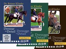 Dressage in Detail - Part 1,2 & 3, by Dr. Reiner Klimke - 3 DVD Set