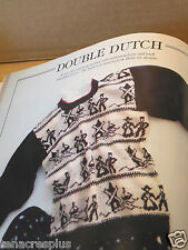 Sweater Knitting Pattern Book Dutch Navajo Scottie Dog Dachshund Cat Butterflies