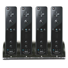4 Charger Charging Dock Controller + 4 Ni-MH Batteries For Nintendo Wii Remote