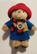 "Paddington Bear 60th Anniversary with Scarf  - 12"" Collectors Plush Soft Toy New"