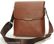 Brown Faux Leather Videng Mens Crossbody Messenger Shoulder Manbag Man Bag IPad
