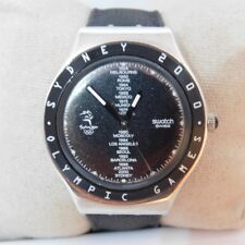 Swatch Sydney Olympic Games 2000 Black Tone Stainless Steel Swiss Made Watch