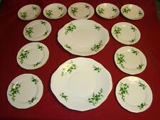 ROYAL VALE IVY with gilding 2 SANDWICH SERVING 7 SIDE PLATES 4 SAUCERS GREEN