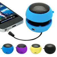 Portable 3.5mm USB Rechargeable Speaker For iPod iPhone Laptop Mini Hamburger