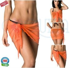 Coqueta Wrap Pareo women's Beach Dress Bikini COVER-UP Mesh swimsuit SARONG NEW
