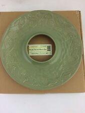 Longaberger Pottery Holiday Nature's Garland Wreath Dish Sage Green Nib