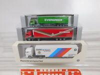 CA289-0,5# 3x Herpa 1:87/H0 Sattelzug/SZ MAN: 181884 + Evergreen + BMW, s.g.+OVP