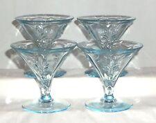 """4 Fostoria BAROQUE BLUE *4"""" SHERBETS*"""
