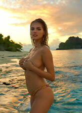 GLOSSY PHOTO PICTURE 8x10 Kate Upton Sensual Naked In The Beach