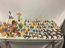 HUGE BIG Playmobil Lot Bundle Vintage & Recent Figures Tipi Horses Accessories