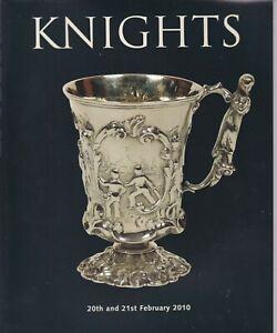 KNIGHT'S Sporting Memorabilia Auction catalogue 20, 21 February 2010. Cricket