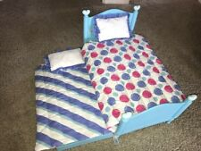 AMERICAN GIRL BITTY BABY TWINS TRUNDLE BED WITH BEDDING