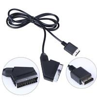 1.8m for ps2 RGB SCART Cable TV AV Lead for Playstation PS1 PS2 PS3 Line