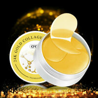 60pcs Crystal Collagen Gold Under Eye Gel Pad Face Anti Mask Wrinkle P5Q9