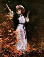 Victorian Trading Co Girl with Branches Fall Greeting Card Set of 10 9D