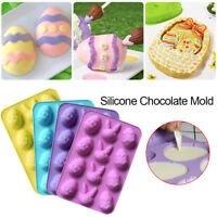 12-Cavity DIY Easter Egg Silicone Cake Fondant Mold Chocolate Baking Mould Tools