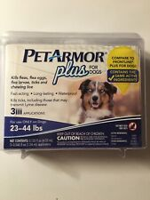 PETARMOR Plus for Dogs 23-44lbs. 3 Applications SEALED PACKAGING