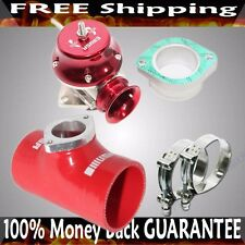 "RED ADJ Type RS Blow off Valve+ 3""  Silicone Type S Adapter+SS Clamps COMBO"