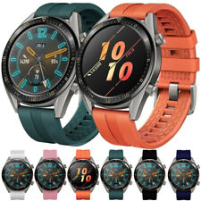 For Huawei Watch GT / GT 2 46mm Soft Silicone Sports Watch Band Strap 22mm