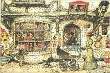 "New Hand Cut Wooden Anton Pieck ""Toy Shop"" 154-pc Jigsaw Puzzle in plywood box"