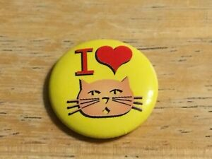 I Love Cats Button Badge