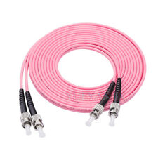 60M ST UPC to ST UPC Duplex OM4 Multimode 3.0mm Fiber Optical Patch Cord Cable