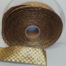 """Wired Ribbon Gold Wire-edged Ribbon 48 Yards 1.5"""""""
