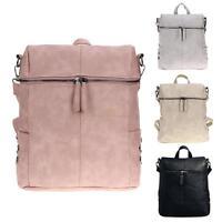 Women Backpack Shoulder Bag PU Leather Schoolbag Tote Handbag Purse  Rucksack Lot 90d97b0c8f6e3