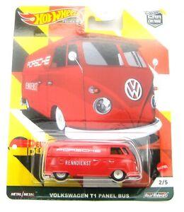 Hot Wheels VW T1 Panel Bus Deutschland Design rot 1:64