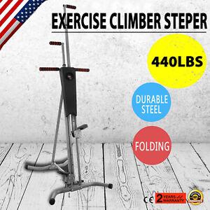 Maxi Exercise Climber Stepper Cardio Climbing Machine LCD Workout Vertical