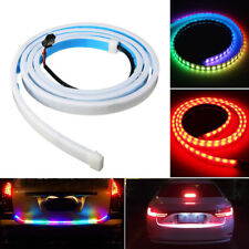 59'' LED Strip Trunk Tailgate Brake Turn Signal Lights Flow Type RGB Red Yellow