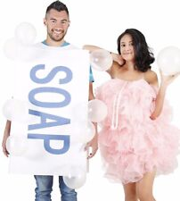 Couples Soap and Loofah Costume Adult Funny Humorous 2 Couple Costumes Set