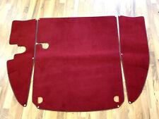 Dark red velours trunk carpet kit for Jaguar XK 150 FHC OTS DHC