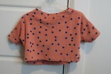 Bobo Choses Dots Cropped Terry Sweatshirt size 4-5