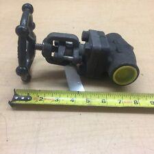 """OMB 835 globe valve 1"""" butt weld class 800 psi 1975 Body A105"""