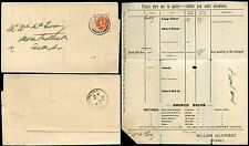 Go QV 1898 imprimés en Irlande portarlington de liscard Cheshire