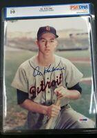 Al Kaline HAND SIGNED 8x10 Photo Autographed Detroit Tigers PSA/DNA GRADE 10