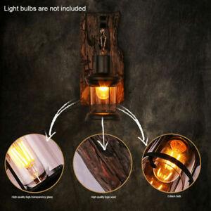 Applique da parete Lampada da lanterna da esterno rustica vintage retrò