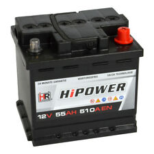 HR HiPower Autobatterie 12V 55Ah 510A/EN ersetzt 36 40 42 44 45 47 48 50 60 Ah