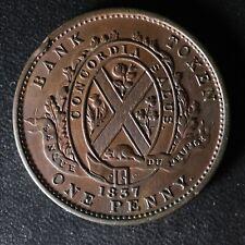 LC-9C2 One Penny token Deux sous 1837 Bas Canada Banque du Peuple Breton 521