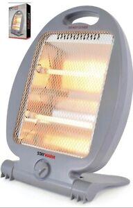 Quartz Halogen Small Portable Electric Heater 2 Settings 400W/800W Free Standing