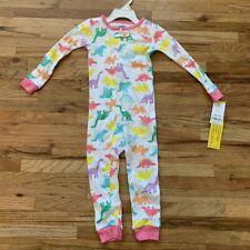 Carter's Toddler Girls Dinosaur Footed Pajamas NWT