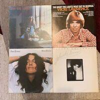 FOLK POP vinyl LP lot-  Carole King TAPESTRY - Vicki Lawrence - Phoebe Snow