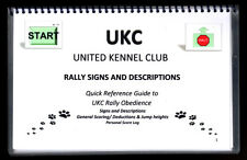 *NEW* UKC RALLY Obedience QUICK REFERENCE GUIDE Laminated Rally Signs Dog Book