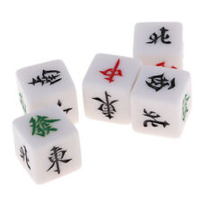 Good Accessory for Family and Casino Table Mahjong Games Dice - Set of 5